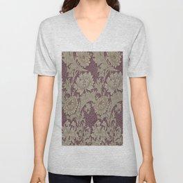 Chrysanthemum By William Morris Unisex V-Neck
