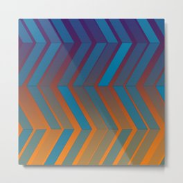 "Geometric print ""Bi-fold"" Metal Print"