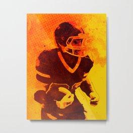 Heat of American Football Metal Print