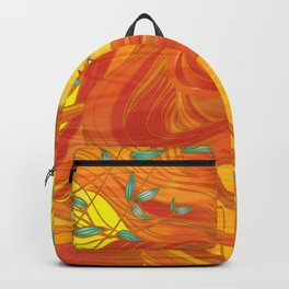 Orange Golden Girl Backpack