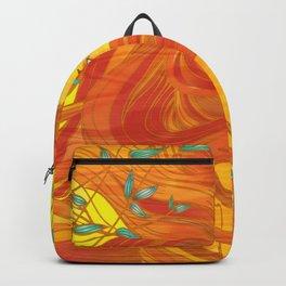 Orange Golden Girl Backpack