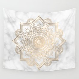 Marble Gold Mandala Design Wall Tapestry