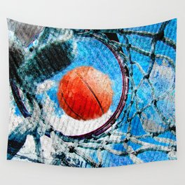 Basketball art print 166 Wall Tapestry