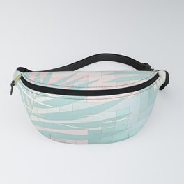 Summer Mood with Chevron and Palms Fanny Pack