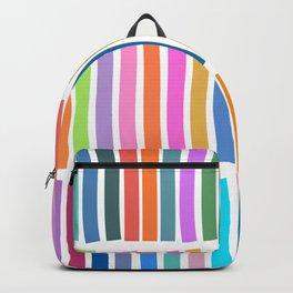 Bright Whimsical Rainbow Stripes Backpack