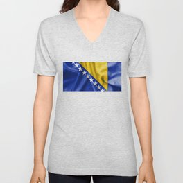Bosnia and Herzegovina Flag Unisex V-Neck