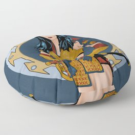 Xena samurai Floor Pillow