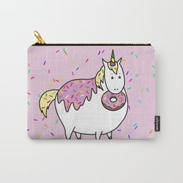 Chubby Unicorn With Colorful Doughnut Sprinkles Carry-All Pouch