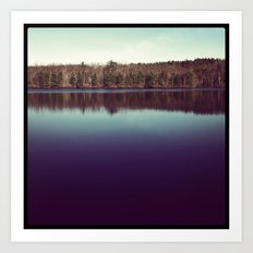 Winter on the Lake Art Print