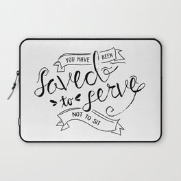 SAVED TO SERVE - B&W Laptop Sleeve