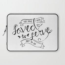 SAVED TO SERVE - B&W Laptop Sleeve