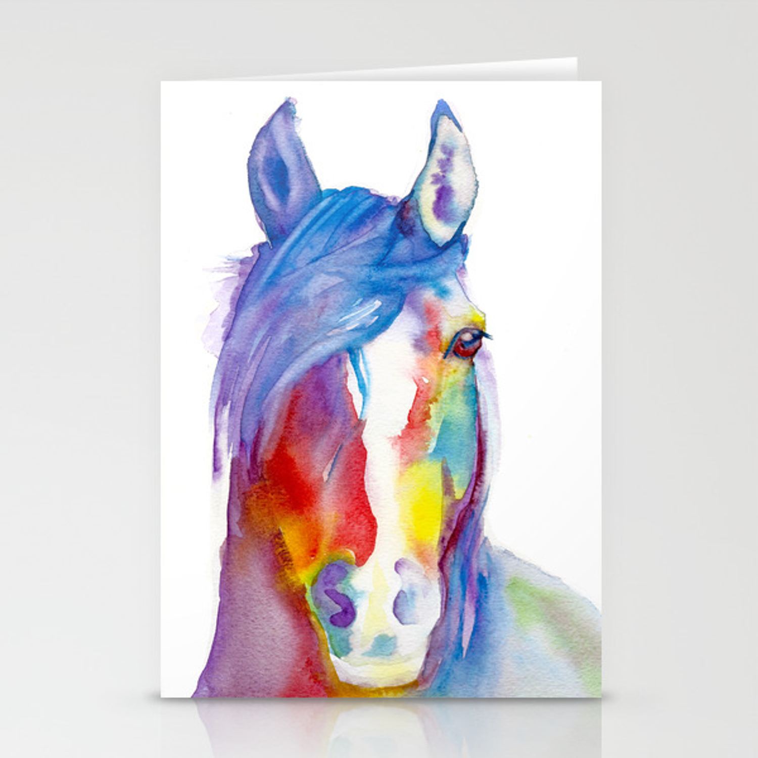 Rainbow Horse Stationery Cards By Kric Society6