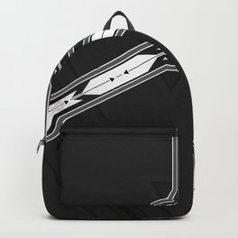 Abstract  Black and White Multi Pattern Backpack