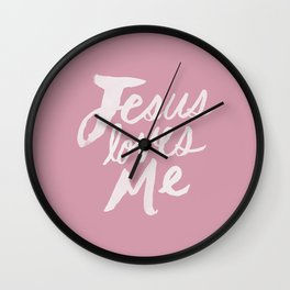 Jesus Loves Me x Rose Wall Clock