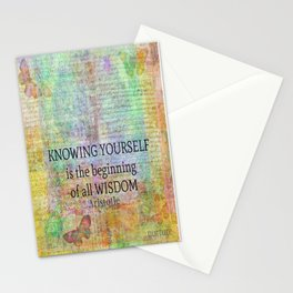 Aristotle WISDOM quote Stationery Cards
