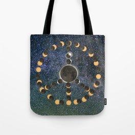 Solar Eclipse – Peace on Earth Tote Bag