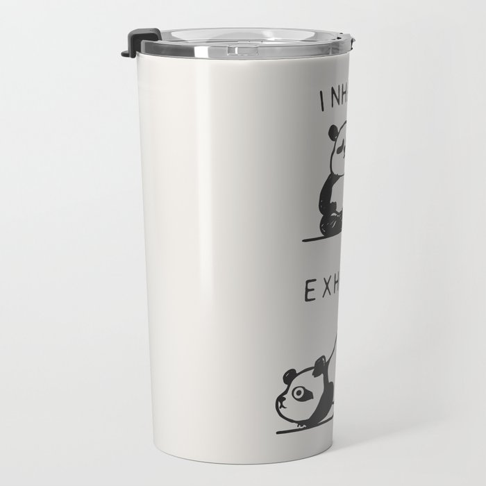 Inhale Exhale Panda Travel Mug