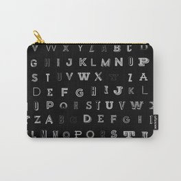 Typographic Alphabet Carry-All Pouch