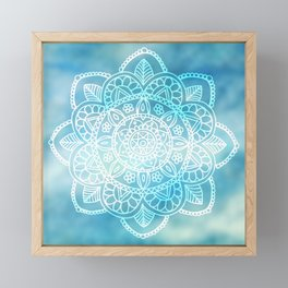 Blue Sky Mandala Framed Mini Art Print
