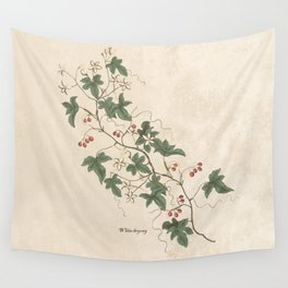 White Bryony Wall Tapestry