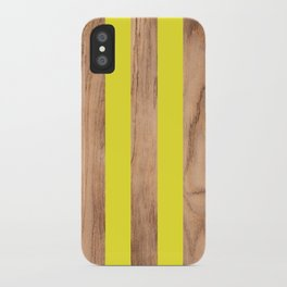 Wood Grain Stripes Yellow #255 iPhone Case