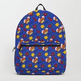 Hammy Pattern in Dark Blue Backpack