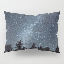 Milky Way in the Woods | Nature and Landscape Photography Pillow Sham