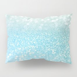 Mermaid Sea Foam Ocean Ombre Glitter Pillow Sham