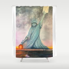 BROKEN Shower Curtain