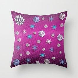 Pretty Flakes Throw Pillow