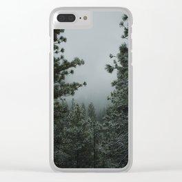 Backwoods Winter: Ponderosa Pines, Washington Clear iPhone Case
