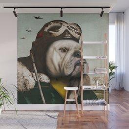"Wing Commander, Benton ""Bulldog"" Bailey of the RAF Wall Mural"