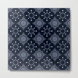 Art Deco 31 Black blue Metal Print
