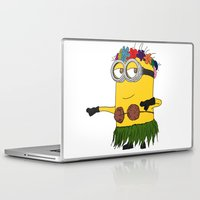 minion Laptop & iPad Skins featuring Hawaii Minion  by The Big Duo