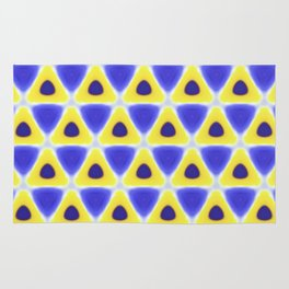 A sea of Triangles Rug