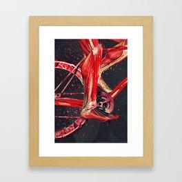 Bike Anatomy Framed Art Print