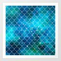 Mermaid Galaxy Scallop Pattern by julieerindesigns