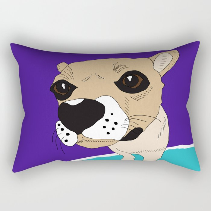 Bao Bao the dog Rectangular Pillow