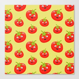 Vegetables tomato colorful pattern Canvas Print
