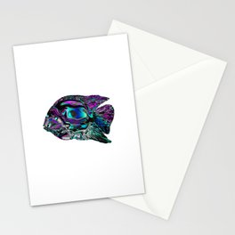 Minimal Abstract Fish Stationery Cards