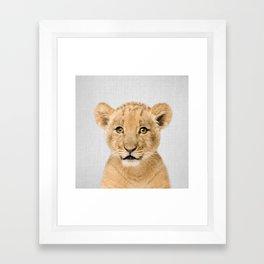 Baby Lion - Colorful Framed Art Print