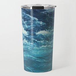 mountain river blue Travel Mug