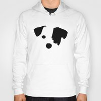 jack russell Hoodies featuring Jack Russell Dog Breed by Maria Faith Garcia
