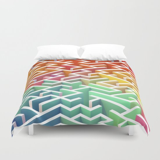 Labyrinth III Duvet Cover