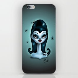 Vampire Doll with Spiders iPhone Skin