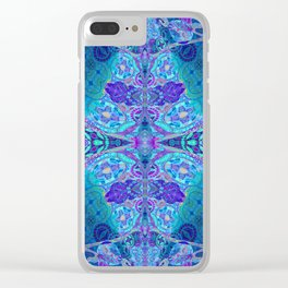 Inner Lantern Indigo Mandala Clear iPhone Case