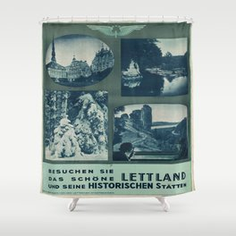 Vintage poster - Lettland Shower Curtain