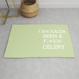 I shoulda been a * celery Rug