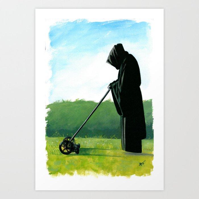 The Grim Mower Art Print