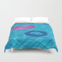pool Duvet Covers featuring Pool by Lama BOO